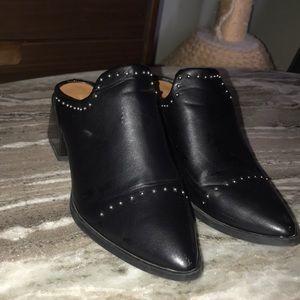 Slip-On Black Studded Booties
